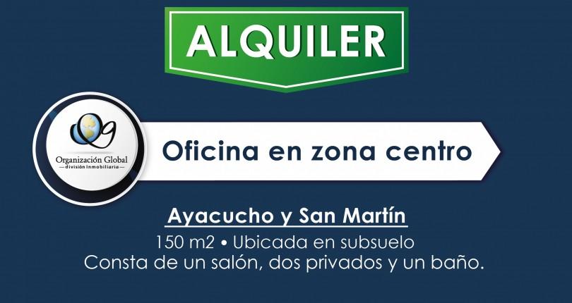 ALQUILER. Oficinas en Ayacucho y San Martín