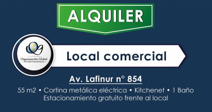 ALQUILER. Local Comercial Av. Lafinur Nº854