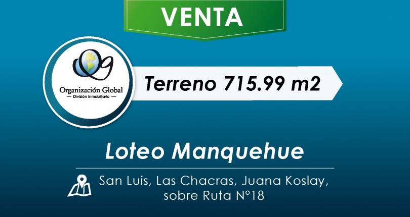 Terreno 715.99 m2. Loteo Manquehue.